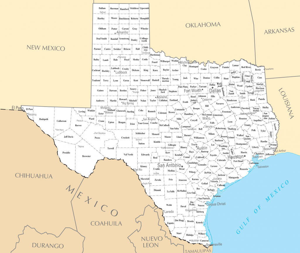 Printable Map Of Texas With Cities And Travel Information   Download - Printable Map Of Texas Cities And Towns
