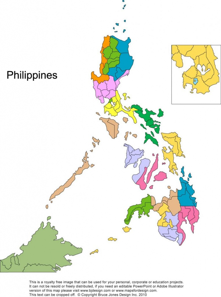 Printable Map Of The Philippines - Free Printable Map Of The - Free Printable Map Of The Philippines
