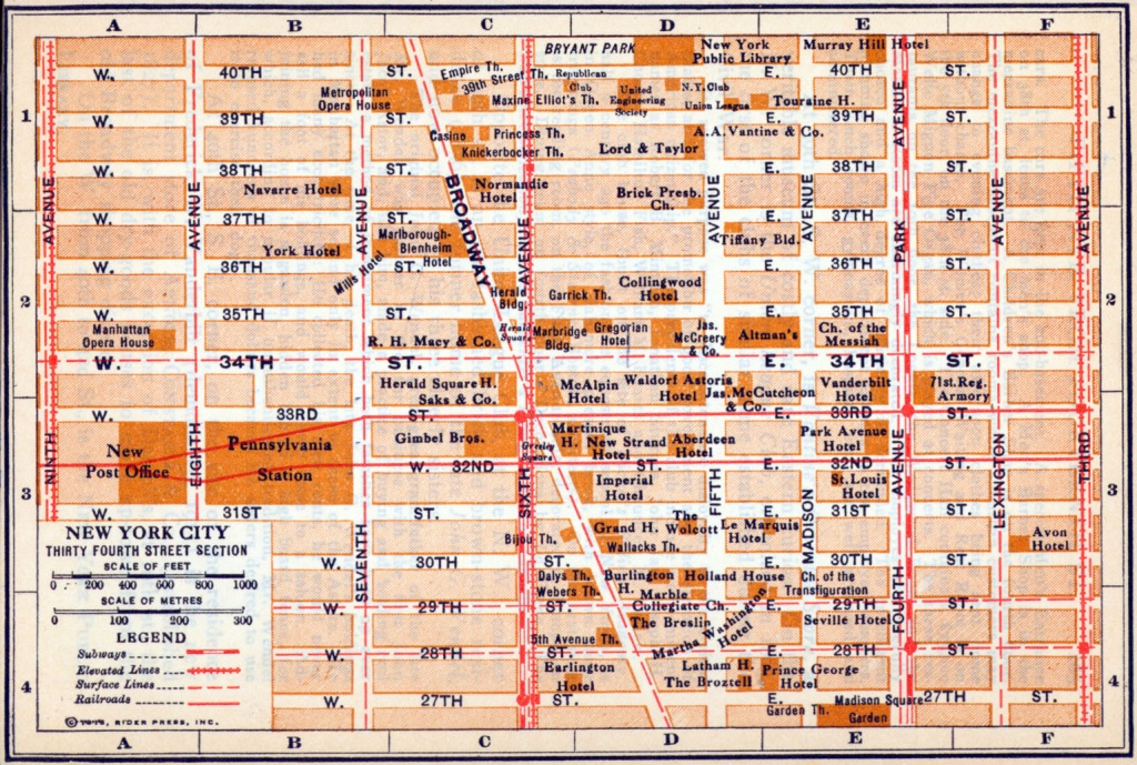 Printable Map Of Times Square Nyc And Travel Information   Download - Printable Map Of Times Square