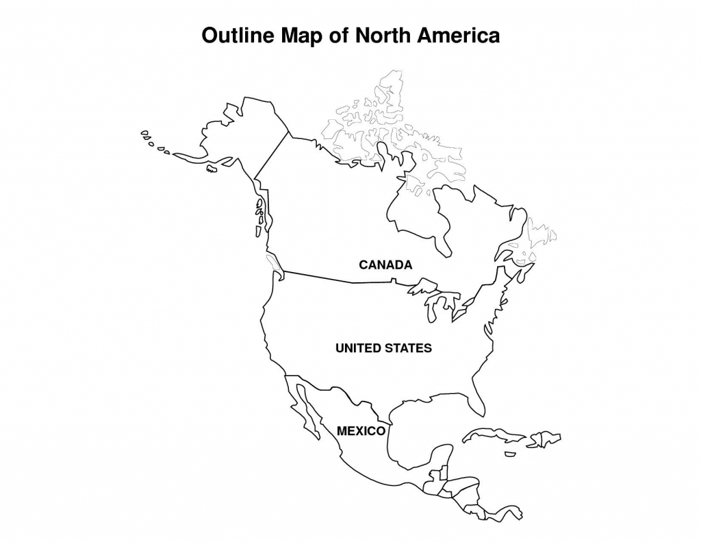 Printable Map Of Us And Canada Outline Usa Mexico With Geography - Blank Us And Canada Map Printable
