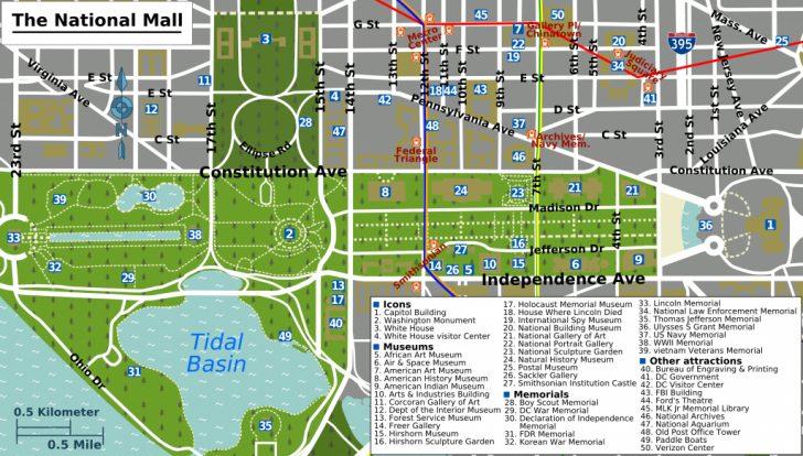 Printable Map Of Dc