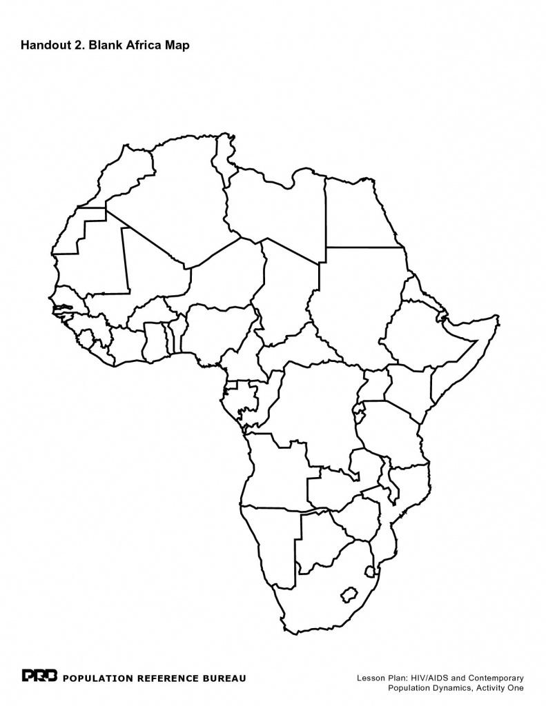Printable Maps Of Africa - Maplewebandpc - Africa Outline Map Printable