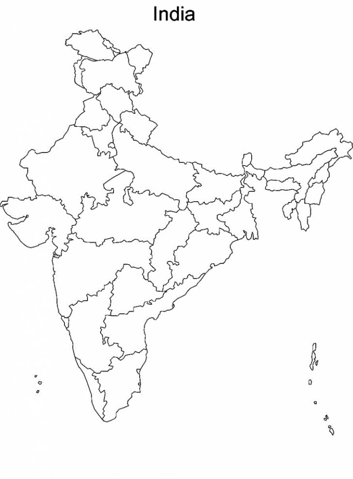 Map Of India Blank Printable