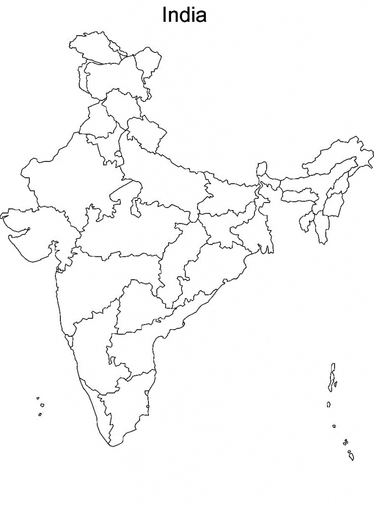 Printable Maps Of India And Travel Information | Download Free - Political Outline Map Of India Printable
