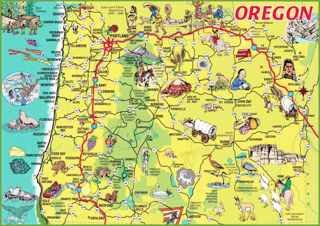 Printable Maps Of Oregon | Sksinternational - Printable Map Of The Oregon Trail