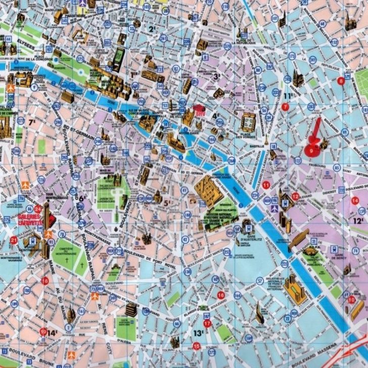 Paris Tourist Map Printable
