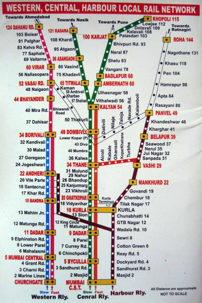 Printable Mumbai Local Train Map For Tourists - Printable Local Maps