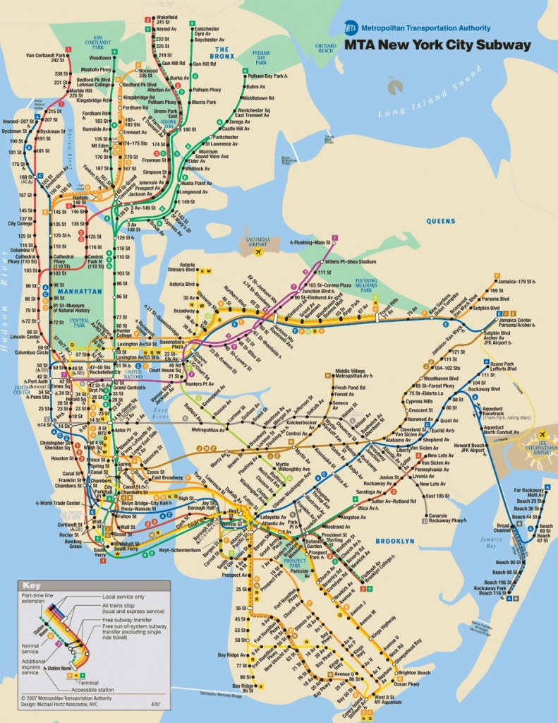 Printable New York Map New York City Subway Maps Pdf | Travel Maps - Printable Nyc Map Pdf