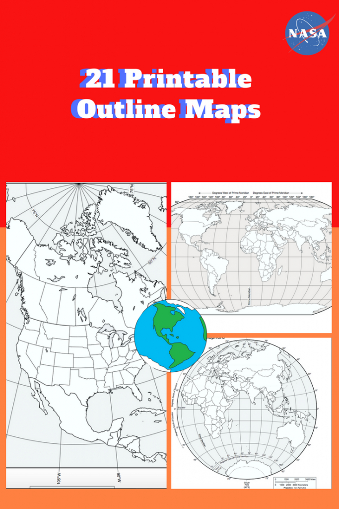 Printable Outline Maps Of The World (Pdf): Download And Print 21 - Printable World Map With Hemispheres