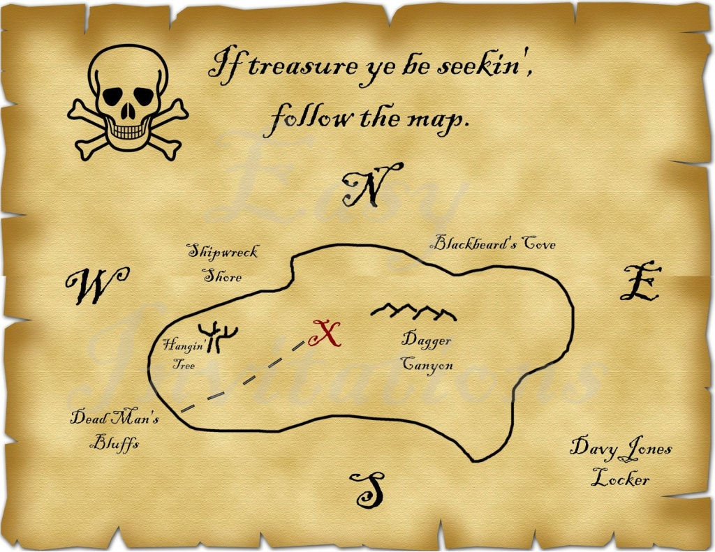Printable Pirate Treasure Map Best Photos Of Template Blank - Maps For Invitations Free Printable