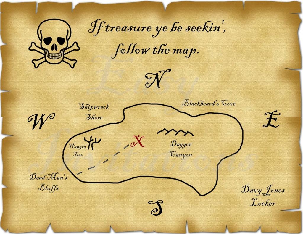 Printable Pirate Treasure Map Best Photos Of Template Blank - Printable Treasure Map Template