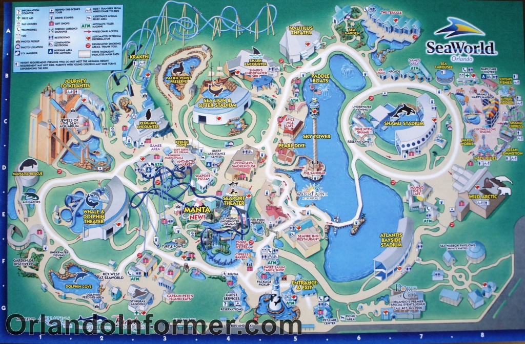 Printable Seaworld Map | Scenes From Seaworld Orlando 2011 - Photo - Orlando Florida Parks Map