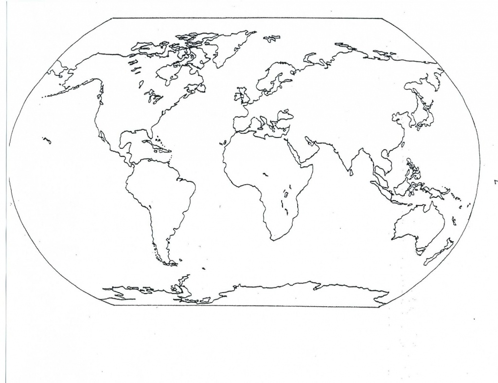 Printable Sheets Of Africa, Europe, Asia, And Australia Not Labeled - Printable World Map With Continents And Oceans Labeled