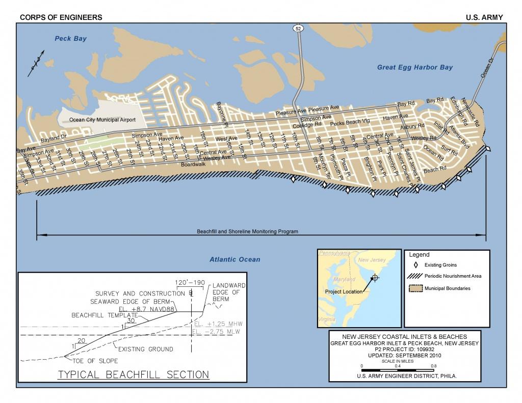 Printable Street Map Ocean City Nj   Printable Maps - Printable Street Map Ocean City Nj