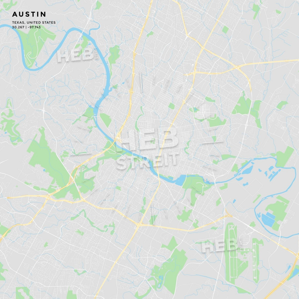 Printable Street Map Of Austin, Texas | Hebstreits Sketches - Printable Map Of Austin Tx
