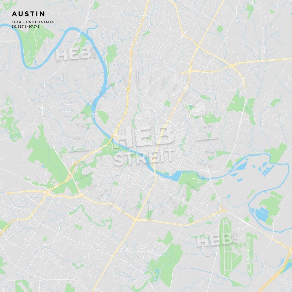 Printable Street Map Of Austin, Texas | Hebstreits Sketches - Printable Map Of Austin