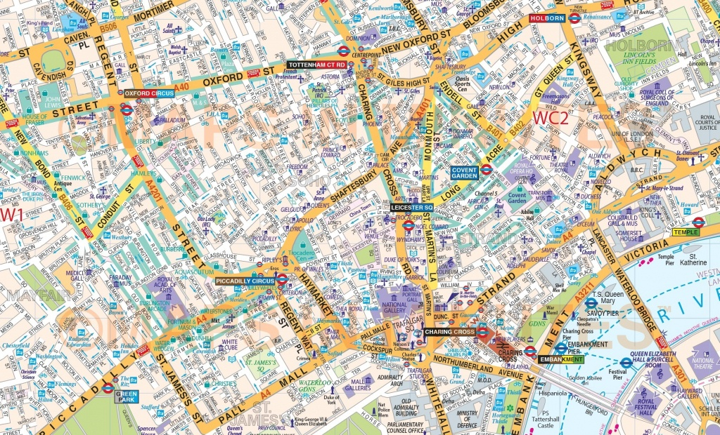 Printable Street Map Of Central London Within - Capitalsource - Printable Street Maps