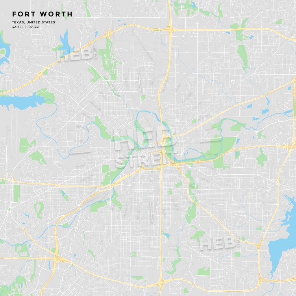Printable Street Map Of Fort Worth, Texas | Hebstreits Sketches - Street Map Of Fort Worth Texas
