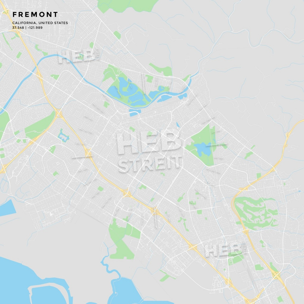 Printable Street Map Of Fremont, California   Hebstreits Sketches - Fremont California Map
