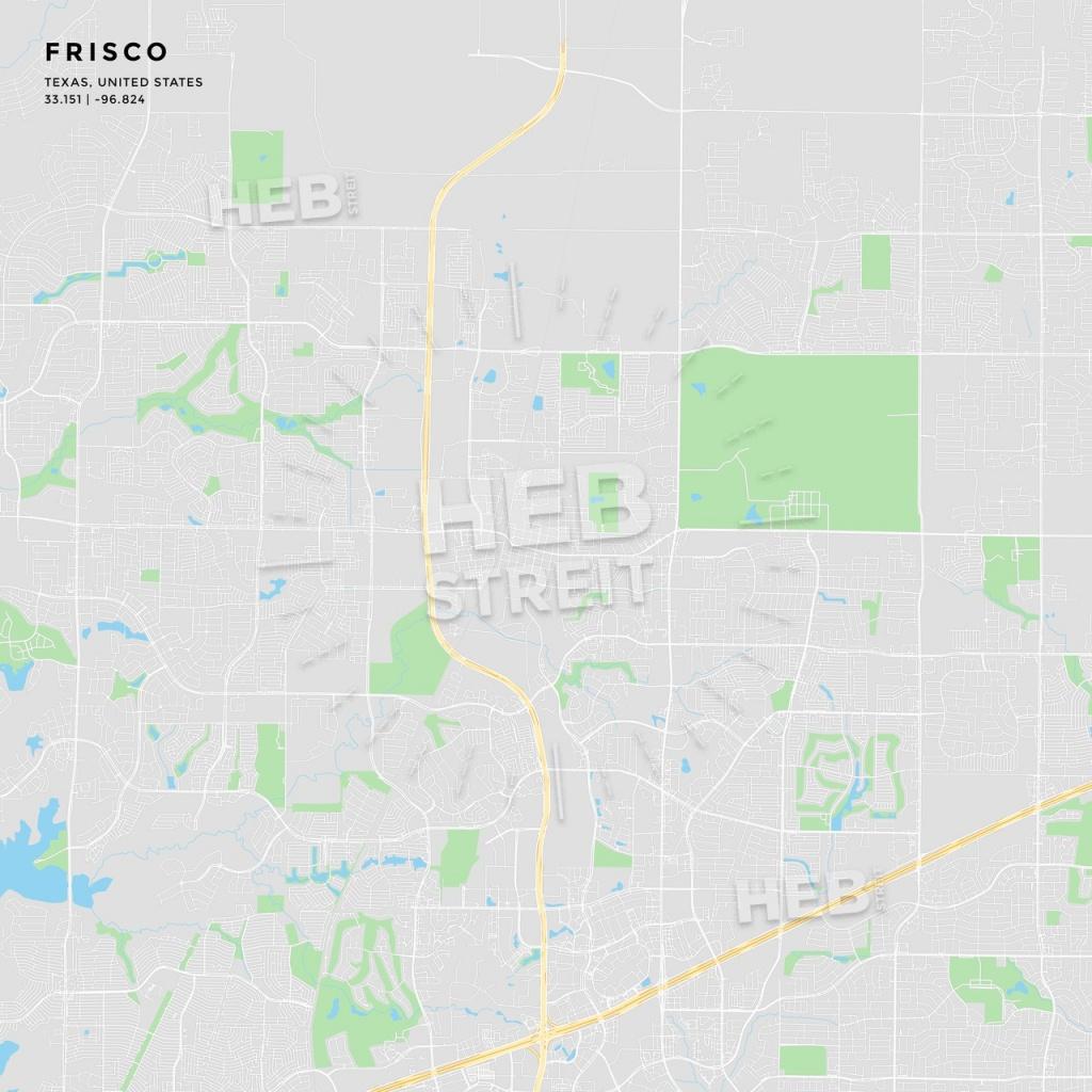 Printable Street Map Of Frisco, Texas | Hebstreits Sketches - Frisco Texas Map