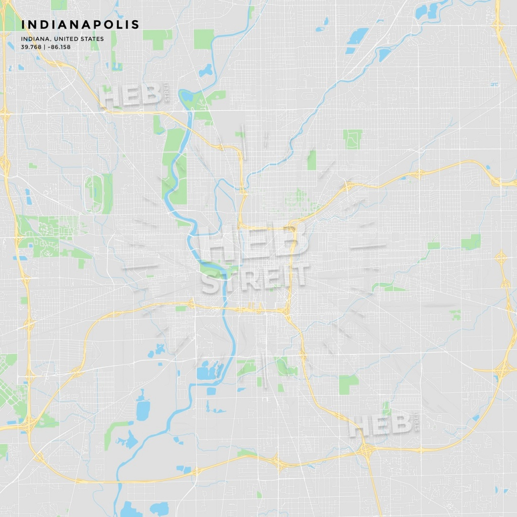 Printable Street Map Of Indianapolis, Indiana   Hebstreits Sketches - Printable Map Of Indianapolis