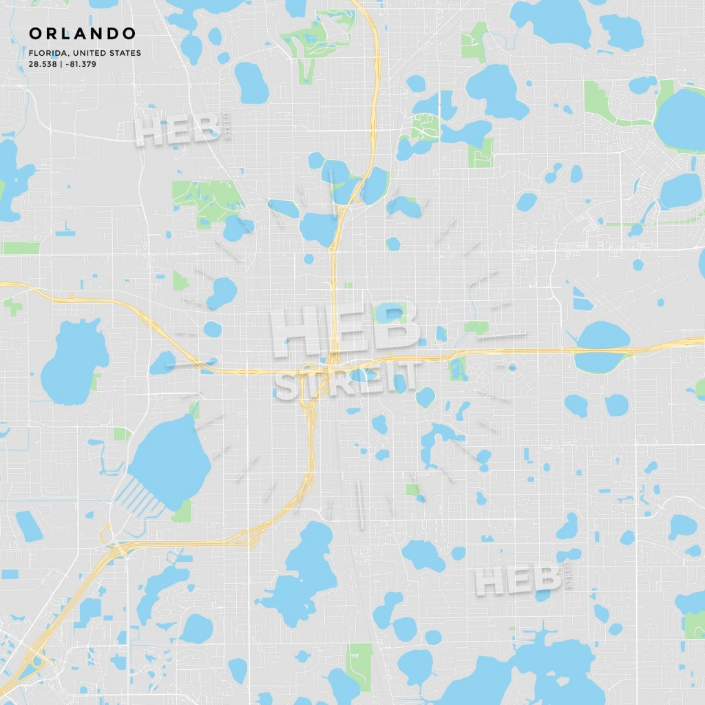 Printable Street Map Of Orlando, Florida | Hebstreits Sketches - Street Map Of Orlando Florida