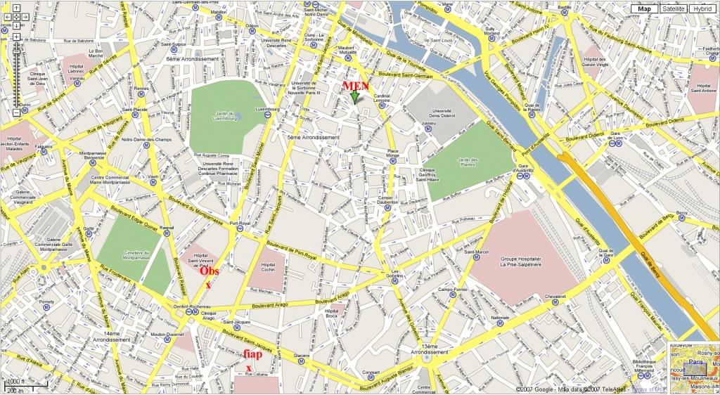 Printable Street Map Of Paris Download Printable Paris Street Map - Printable Map Of Paris Arrondissements