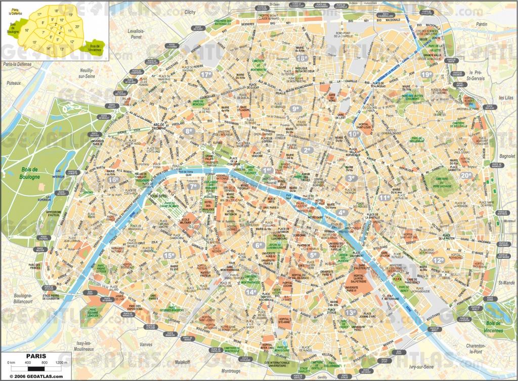 Printable Street Map Of Paris Printable Street Map Paris | Travel - Paris Street Map Printable