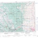 Printable Topographic Map Of Calgary 082O, Ab   Printable Map Of Calgary