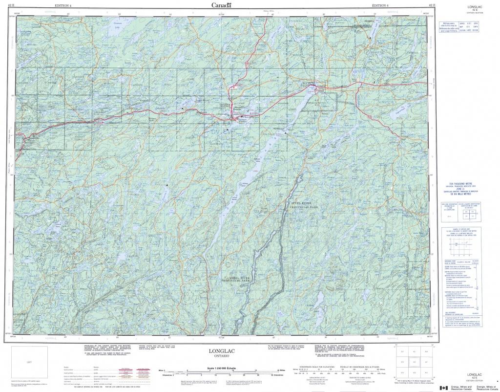 Printable Topographic Map Of Longlac 042E, On - Free Printable Topo Maps Online