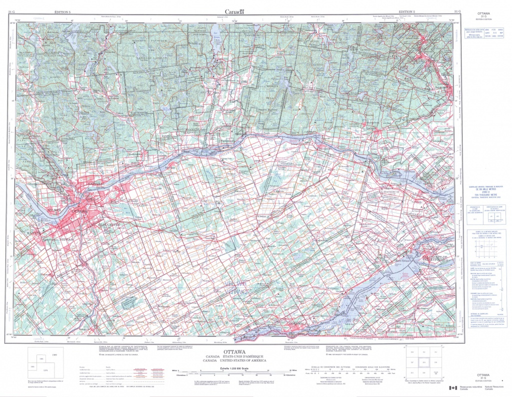 Printable Topographic Map Of Ottawa 031G, On - Printable Map Of Ottawa