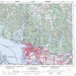 Printable Topographic Map Of Vancouver 092G, Bc – Printable Topo Maps