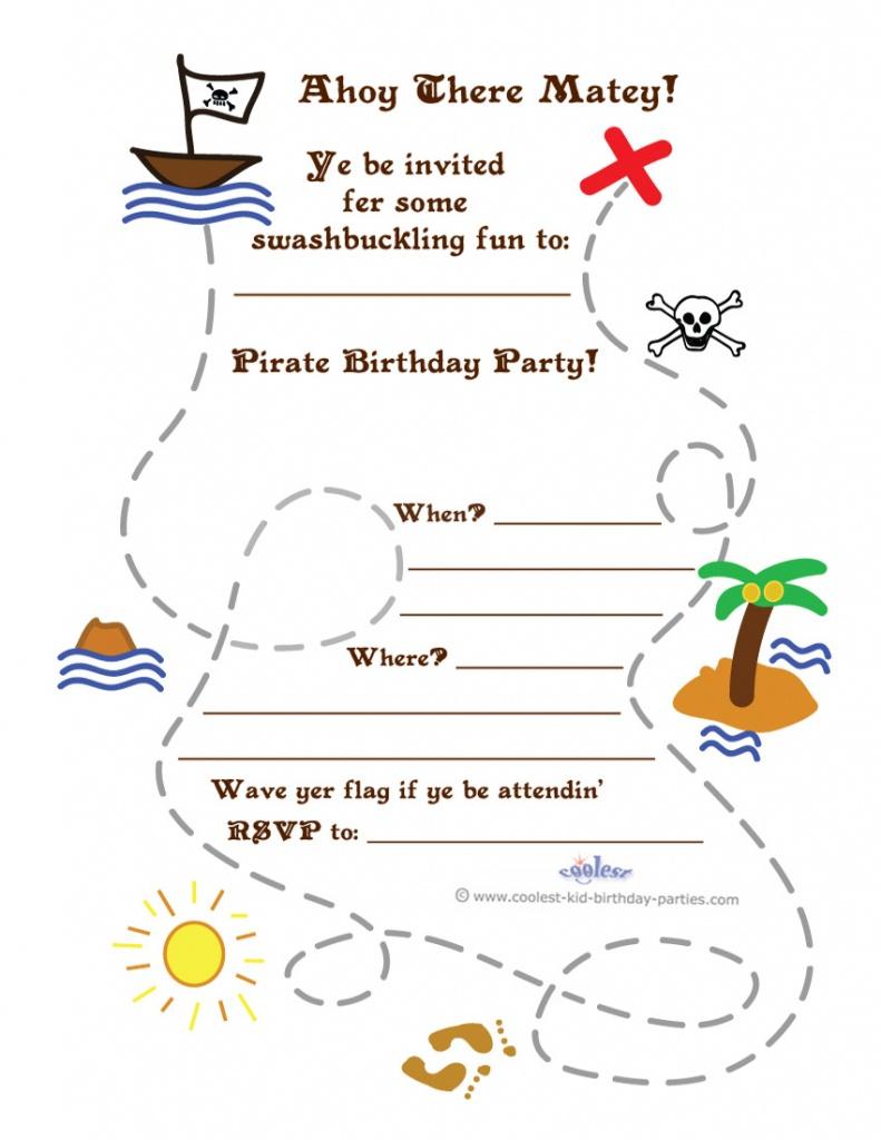 Printable Treasure Map Invitation - Printable Maps For Invitations
