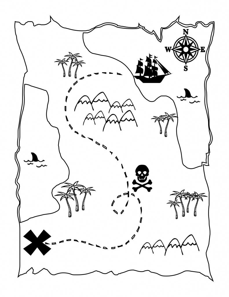 Printable Treasure Map Kids Activity | Lärande | Pirater, Födelsedag - Children's Treasure Map Printable