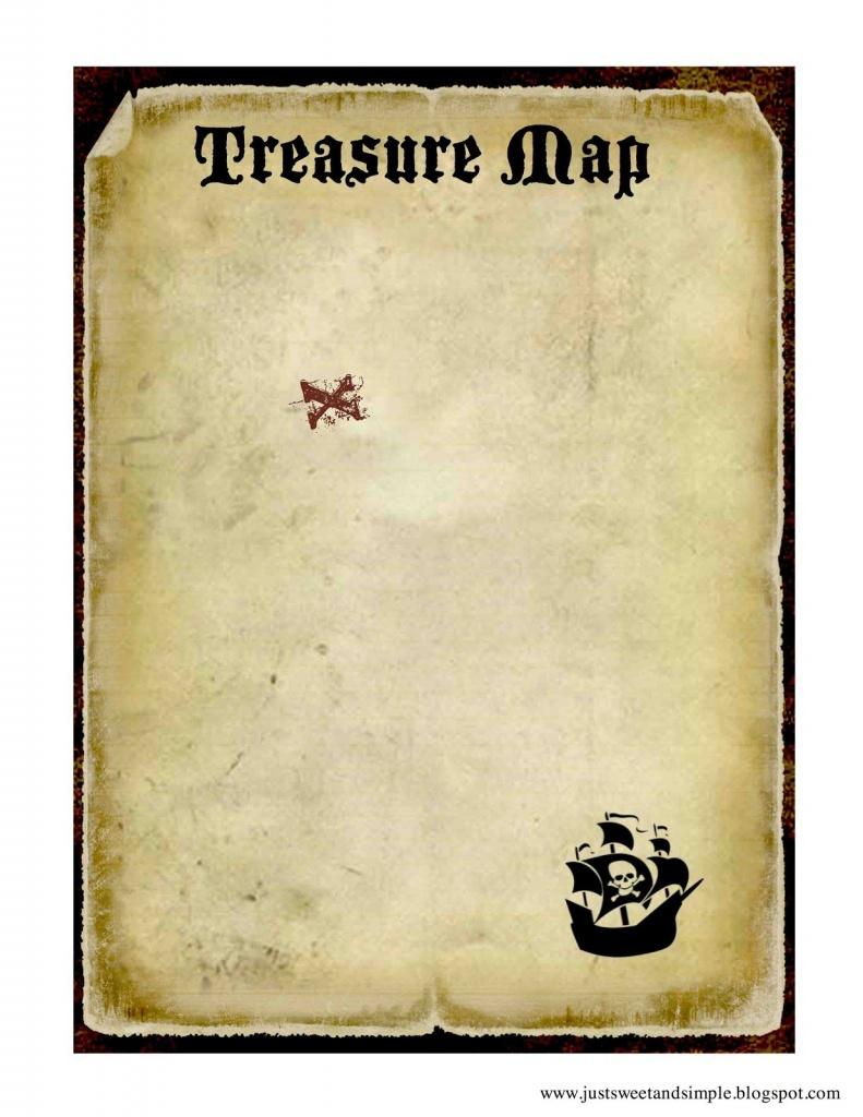 Printable Treasure Map | Pirate And Mermaid Party | Pirates, Pirate - Printable Scavenger Hunt Map