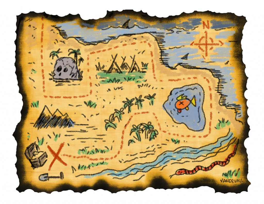 Printable Treasure Maps For Kids - Printable Pirate Maps To Print
