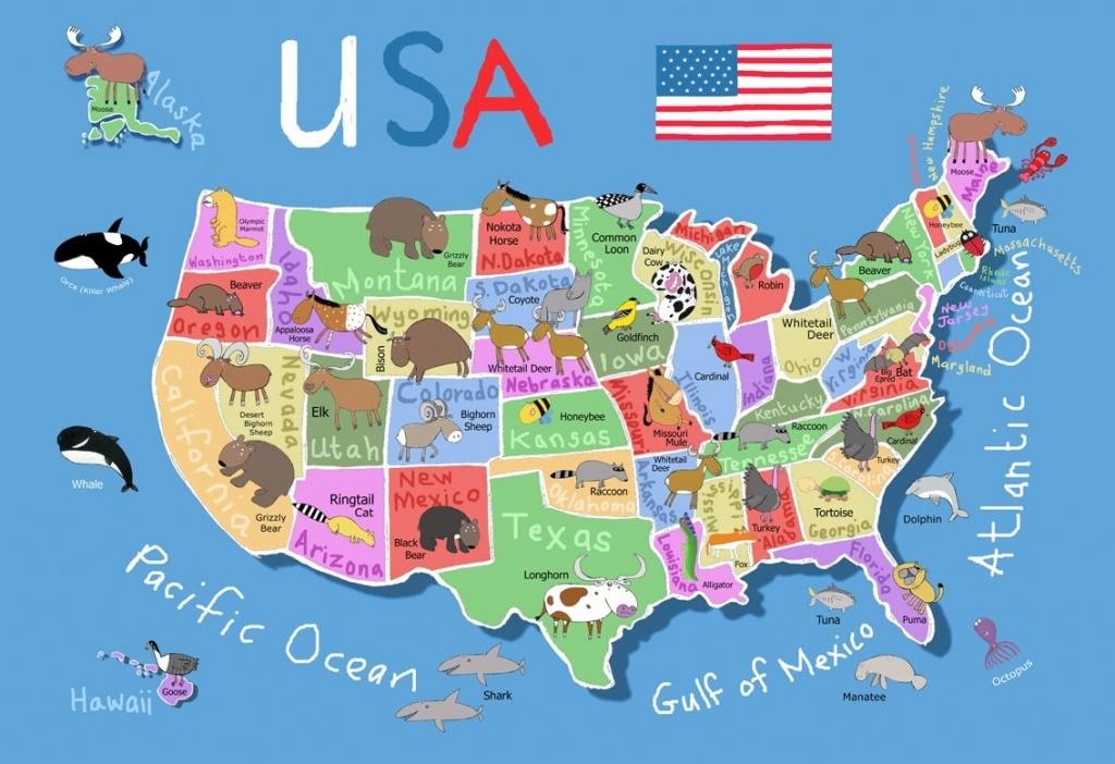 Printable Us Map For Kids - Berkshireregion - Printable Maps For Kids