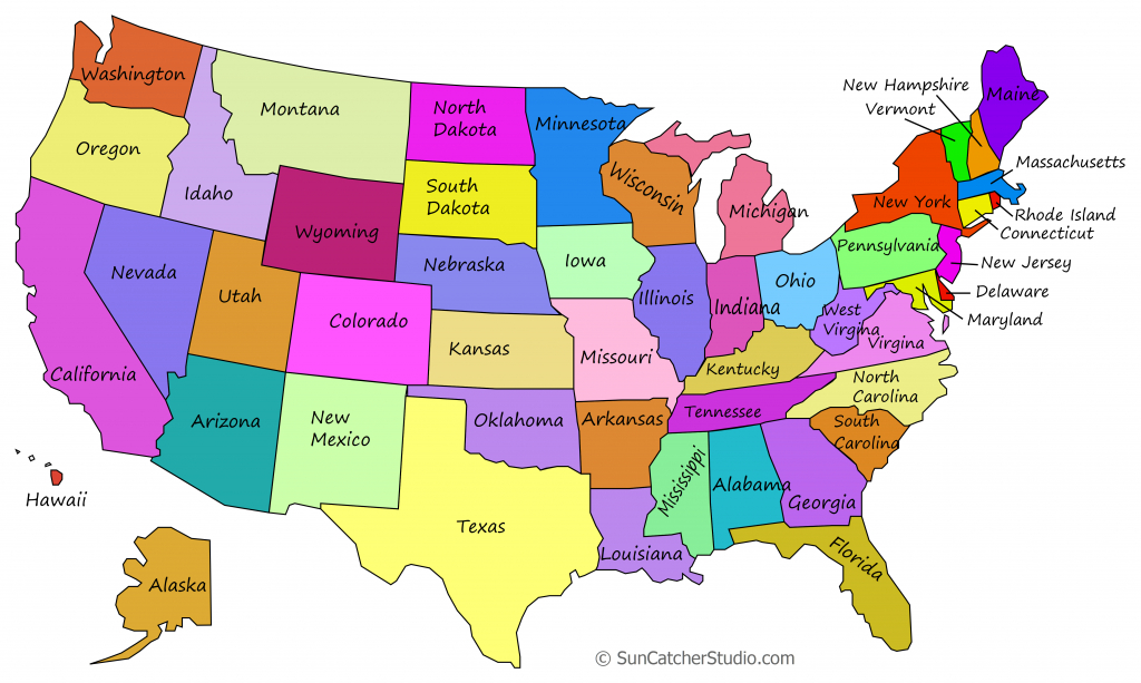 Printable Us Maps With States (Outlines Of America - United States) - United States Color Map Printable