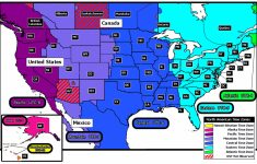Usa Time Zone Map Printable