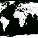 Printable White Transparent Political Blank World Map C3 | Free   Blank Map Printable World
