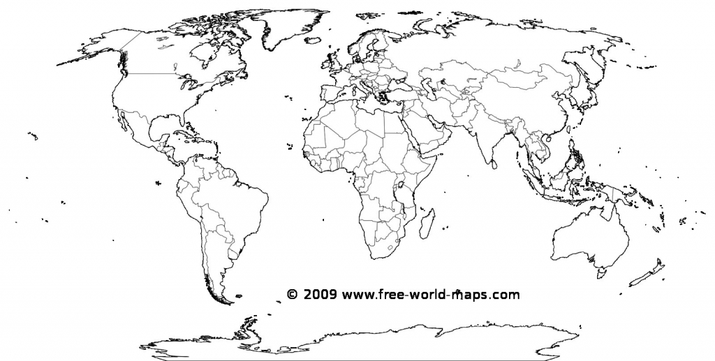 Printable White Transparent Political Blank World Map C3 In 2 - Free Printable Blank World Map