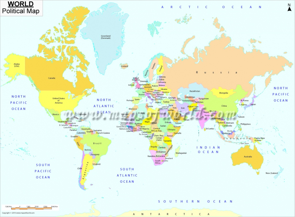 Printable World Map | B&w And Colored - World Map With Capitals Printable
