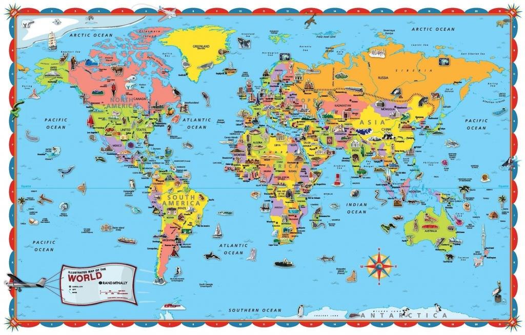 Printable World Map For Kids Incheonfair Throughout For Printable - Free Printable World Map Poster