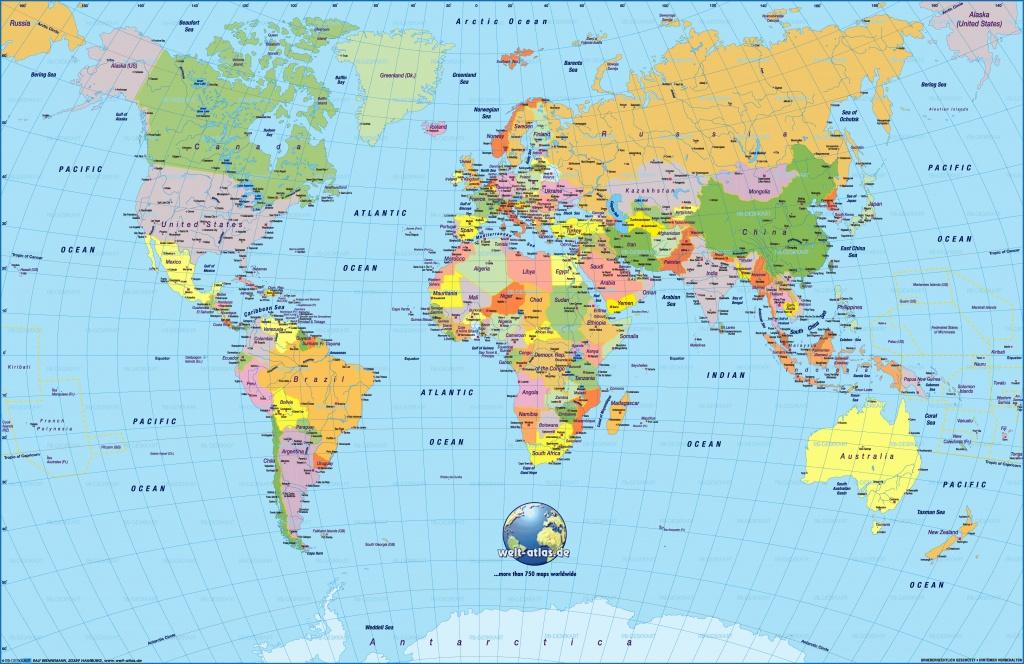 Printable World Map Free | Sitedesignco - Free Printable World Map For Kids