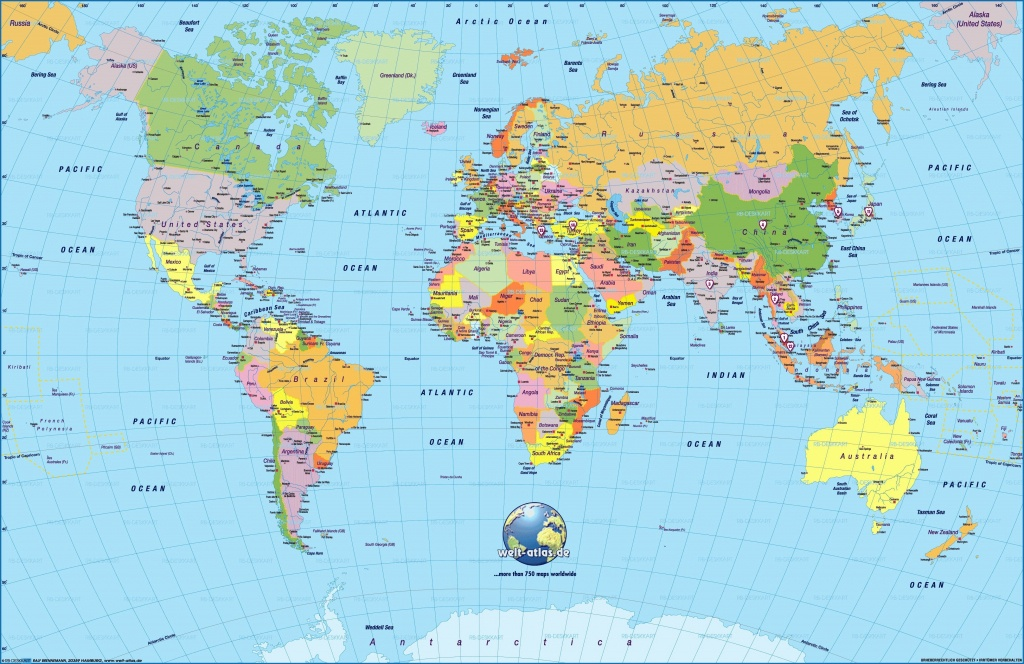 Printable World Map Large | Sitedesignco - Large Printable Maps