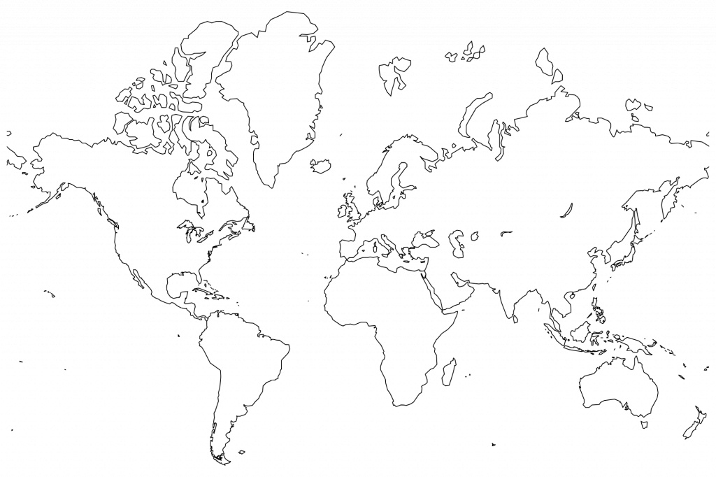 Printable World Maps In Black And White And Travel Information - World Map Black And White Labeled Printable