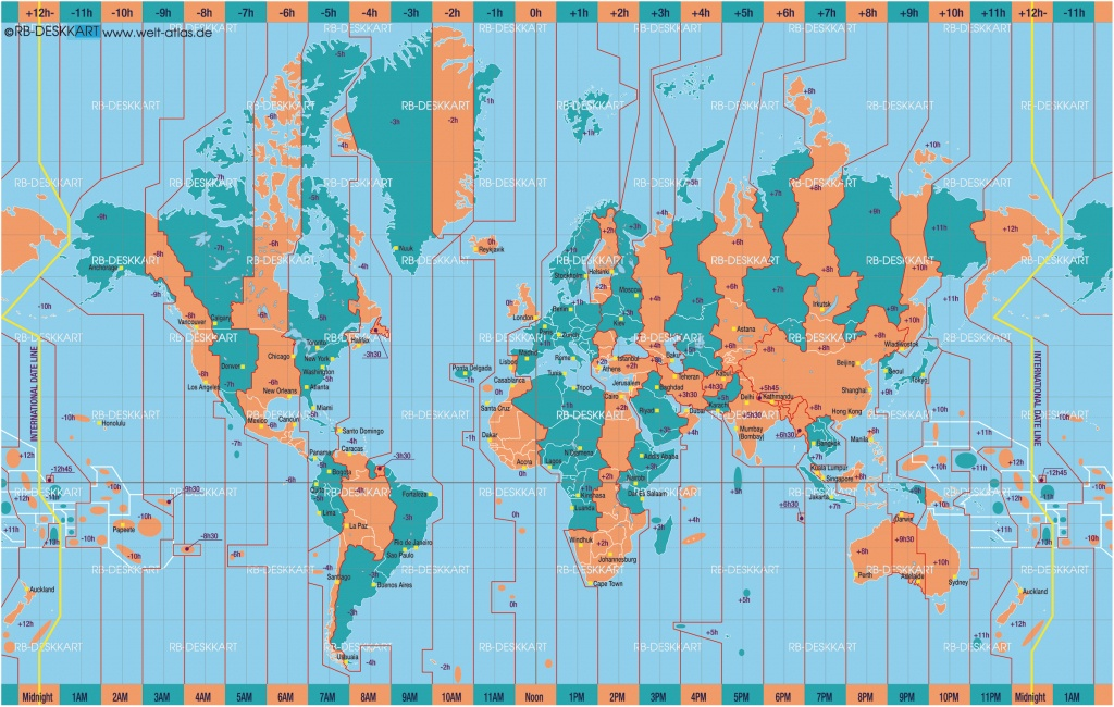 Printable World Time Zone Maps And Travel Information | Download - World Time Zone Map Printable Free