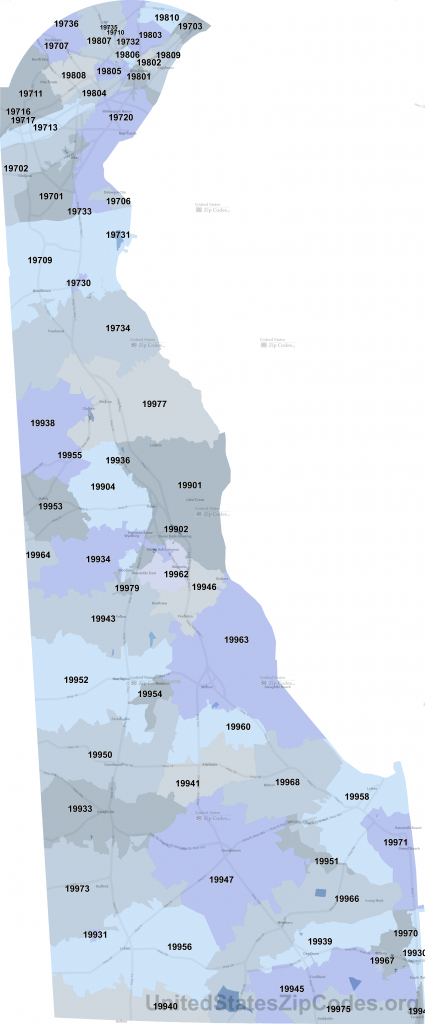 Printable Zip Code Maps - Free Download - Printable Area Code Map