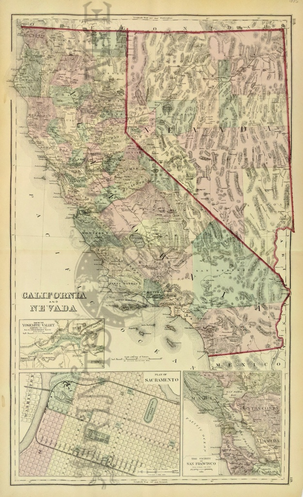 Prints Old & Rare - California - Antique Maps & Prints - Antique Map Of California