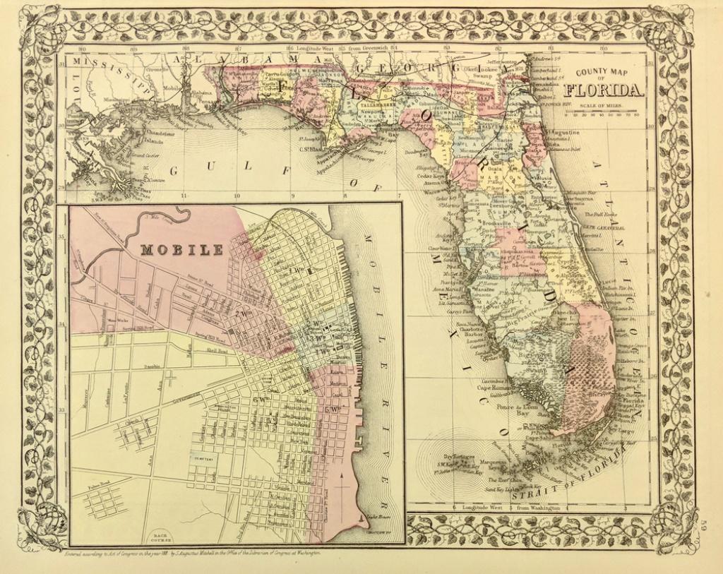 Prints Old & Rare - Florida - Antique Maps & Prints - Old Florida Maps Prints